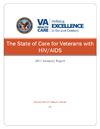 Cover of the State of Care for Veterans with HIV/AIDS, Summary Report 2011