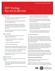 Patient's Guide to HIV Testing