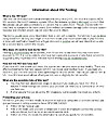Information on HIV Testing