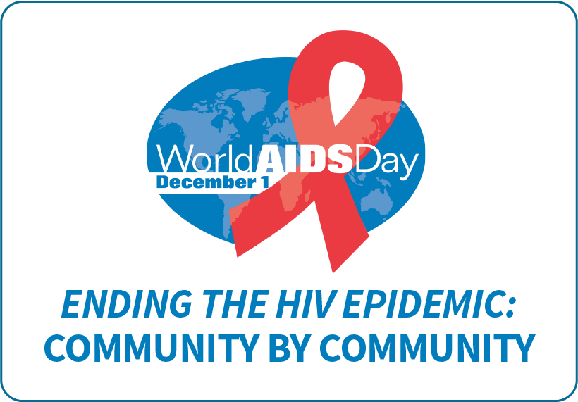 National logo for World AIDS Day